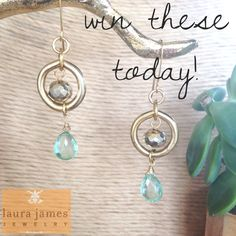 Win! One-of-a-kind vintage earrings - yes, we are giving them away today!