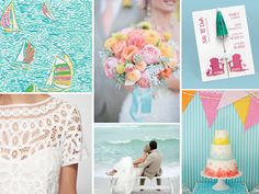 {lily pulitzer} a pink and blue sorority prep, Lily Pulitzer wedding inspiration board