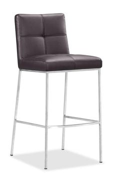 ZUO Modern Box Bar Chair $197.99  Sold in increments of 2. This bar chair has a very simple architectural design perfect for any dining space!  Choose from Espresso,Black or White colors  www.modernchairsdirect.com
