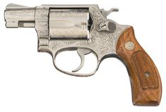 Custom Engraved Smith & Wesson Model 60 .38 Chiefs Special Double Action Revolver
