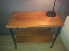 Vintage retro tafeltje op wieltjes - Prijs: € 15,00