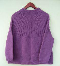 Sweater strikket ovenfra | Strikkeglad.dk