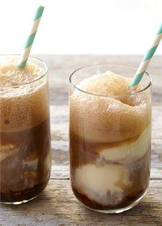 Tasty Tuesday: Light Root Beer Floats Ww Desserts, Weight Watchers Desserts, Chocolate Desserts, Chocolate Cherry, Chocolate Syrup, Dessert Recipes, Healthy Desserts, Drink Recipes, Delicious Desserts