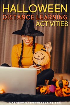 Do you need some fun activities and teaching ideas for Halloween while distance learning? Here are some suggestions for language arts, math, social studies, and science activities you can do throughout the month of October to engage your students on the computer. Have some distance learning fun with these teaching ideas.