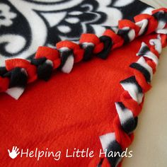 "Helping Little Hands: Double Layered No-Sew ""Braided"" Fleece Blanket Tutorial"