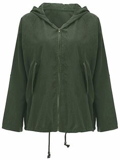 Women Long Sleeve Zipper Pure Color Hooded Short Coat - Gchoic.com