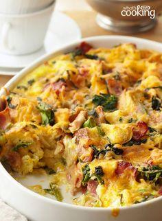 Do-Ahead Egg Bake #recipe (Best Breakfast Eggs)