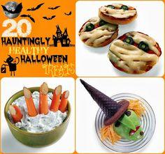 Healthy Halloween Treats! http://starneslifefamilylove.blogspot.com/2013/09/20-hauntingly-healthy-halloween-treats.html