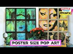 How to make poster-sized Pop Art Fun Crafts For Teens, Diy Crafts For Gifts, Book Crafts, Hybrid Art, Home Printers, Make Your Mark, Poster Making, Craft Projects, Craft Ideas