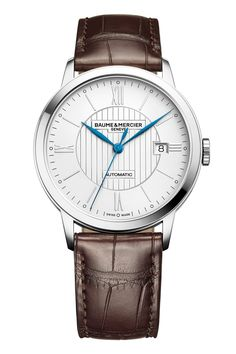The Baume &Mercier Classima10214 has design cues that are classically oriented and that often find themselves amenable to the semi-casual wardrobe. Those cues begin with a 40 mm x 9 mm roundcase in stainless steel. That's conservative and thin enough to slide under your cuff, but also polished so that it's not completely discreet –it's a dress watch after all.