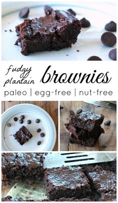 Plantain Brownies | Cook It Up Paleo