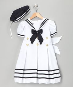 White Mariner Dress & Hat - Infant, Toddler & Girls