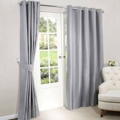 light grey living room curtains - Google Search