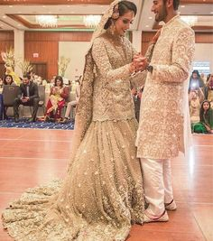 Pakistani Bride & Groom | Beautiful Bridal Dress | Designed by Elan Couture