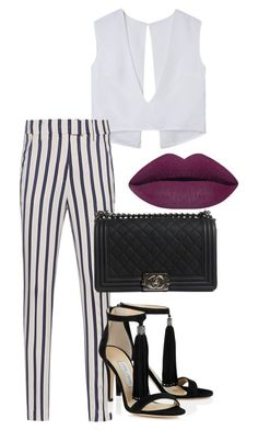 """Outfit #378"" by naleland on Polyvore featuring moda, Dondup i Chanel"