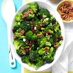 Crunchy Broccoli Salad Recipe from Taste of Home -- shared by Jessica Conrey, Cedar Rapids, Iowa