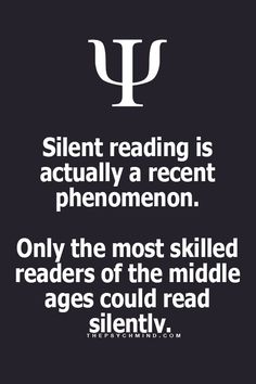 Odd... I only can concentate reading silently...