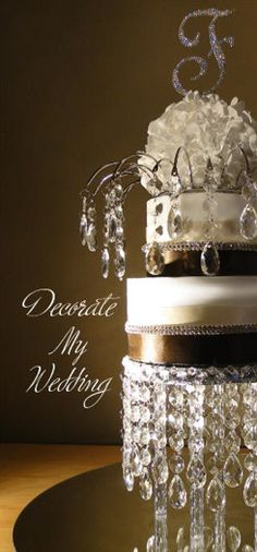 Crystal Wedding Cake http://decoratemywedding.com