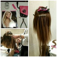 Hair Extension class for April Tina and Allison! Get your new hair extensions at Elle Salon Ltd