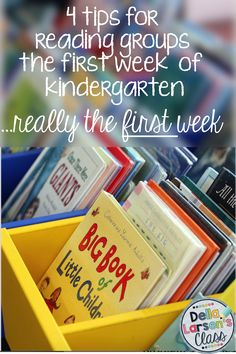 Check out my 4 top tips for starting the year off right with kindergarten reading groups