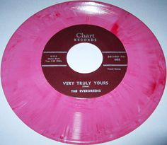1955 Doo wop 45 Rpm The Evergreens VERY TRULY YOURS / GUITAR PLAYER On Chart 605 Pink Wax. Great Hard To Find Ballad!