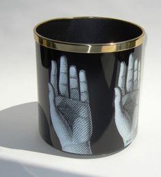 Fornasetti wastebasket - hands