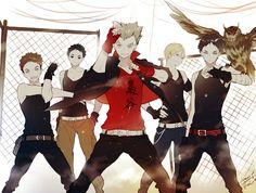 Haikyuu Fukurodani team