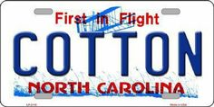 North Carolina Cotton Tag License Plate