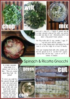 Easy spinach & ricotta gnocchi - Serves 6-8  #vegetarian #easymeals #budgetmeals