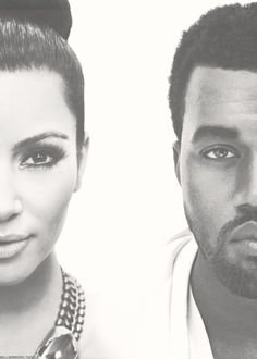 Kim Kardashian & Kanye West. I'm not really a fan or a hater of their relationship, but I really like this pic