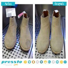 Que las manchas no arruinen tus botas. En Pressto las hacemos desaparecer!!! Chelsea Boots, Ankle, Shoes, Fashion, Stains, Boots, Moda, Zapatos, Shoes Outlet