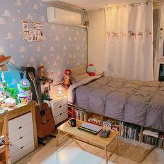 Small Room Bedroom, Dream Bedroom, Home Decor Bedroom, Korean Bedroom Ideas, Kawaii Bedroom, Aesthetic Room Decor, Minimalist Room, Cozy Room, House Rooms