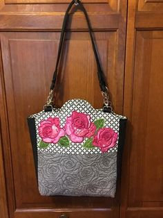 Quilted Roses Bag 6x10 7x12 In The Hoop Machine Embroidery Design - Sweet Pea