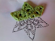 6 pointed star crochet chart, to make for numeracy play