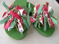 Summer is right around the corner! Make these adorable colorful Flip Flops with this tutorial.