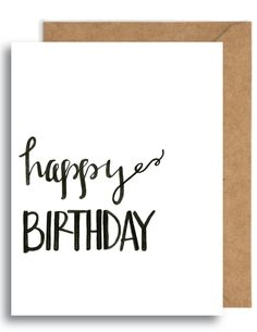 Happy Birthday Card || celebration || party || download || print || calligraphy || handlettering || typography by YourFullerLife on Etsy