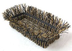 Learn the techniques of ply-splitting by using a kit for the ply-split Spiral Basket, one of 12 designs in How to Make Ply-Split Baskets by Linda Hendrickson. Letter Tray, Weaving Art, Step By Step Instructions, Basket Weaving, Decorative Accessories, Macrame, Weave, Baskets, Braids