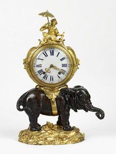 Table clock, Philippe Caffieri, ormolu, Paris, about 1745