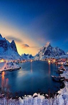 Lofoten, Norway I'd love to visit little towns like this.towns with amazing vistas and lots of charm. Lofoten, Places Around The World, Around The Worlds, Adventure Is Out There, Belle Photo, Beautiful World, Beautiful Norway, Stunningly Beautiful, Hello Beautiful