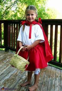 Little Red Riding Hood...never underestimate the creative power of a cape. Homemade costumes--NOT just for Halloween...