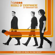 NEW TOUR – Hanson is gearing up for their Middle of Everywhere tour! Don't miss your chance to celebrate their 25th anniversary. Check tour dates and get ticket info here: http://hoblu.es/9As