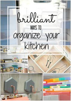 Our favorite tips to get your kitchen organized and KEEP it organized. Since we all spend so much time in our kitchens, let's make them clean and organized!