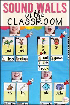 First Grade Reading, First Grade Classroom, Future Classroom, Classroom Ideas, Forest Theme Classroom, Teaching Phonics, Phonics Rules, Sound Wall, Phonics Sounds