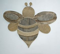 Bumble Bee - Rustic Palette Wood by RedSketchDecor on Etsy