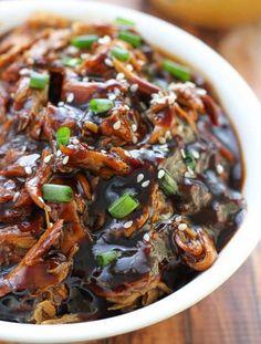 Sweet Slow Cooker Honey Garlic Chicken Slow Cooker Chicken Pasta, Stew Chicken Recipe, Chicken Pasta Recipes, Asian Recipes, Ethnic Recipes, Asian Foods, Honey Garlic Chicken, Pressure Cooker Recipes, Dinner Recipes