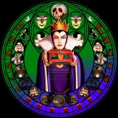 Evil Queen stained glass by jeorje90 on DeviantArt