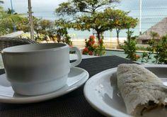 Um bom café, mirando o mar de Fortaleza  #breakfast #café #inspire #goodvibe