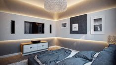 modern bedroom because of the white colors and sleek design