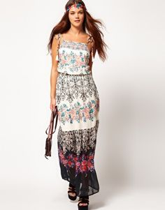 Enlarge River Island Chelsea Girl Maxi Dress In Floral Print