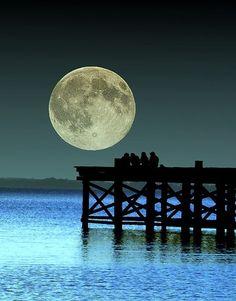 Full moon once in a blue moon Stars Night, Good Night Moon, Ocean Night, Beautiful Moon, Beautiful World, Beautiful Places, Moon Shadow, Moon Dance, Shoot The Moon